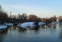 речка Истра с моста